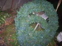 These wreaths are in excellent condition and we are