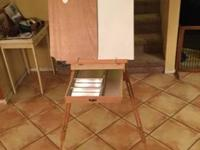 Only used once! Includes adjustable stool, organizing