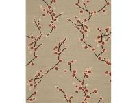 Hand hooked in 100% polypropylene, this rug features a