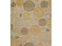 Machine made in viscose and chenille, this rug features