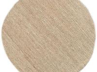 Hand woven in 100% jute, this rug features a natural