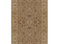 Hand tufted in 100% wool, this rug features a