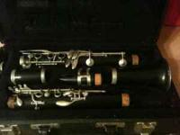 Artley student B flat clarinet. In fair condition but