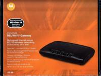 This listing is for a Motorola ADSL+2 modem/wireless N