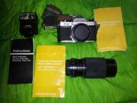 This is a Asahi Pentax K 1000 manual camera. It is the