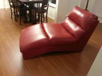 This is a brand brand-new Durablend Red Chasie Lounge i