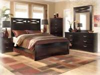 Ashley Furniture Bedroom Set Black Contemporary For Sale