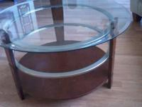Coffee table and ONE end table Minor wear on wood of