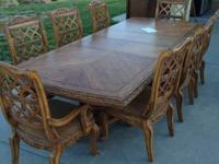Very luxuriant eating table & chairs. The table