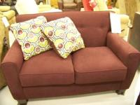 This is the Danielle Eggplant love seat from Ashley