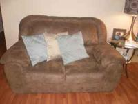 I have a ashley furniture microfiber brown love seat it