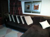 Beautiful brown and cream Ashley sectional set for