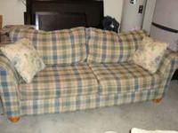Good Condition, Plaid cottage matching sofa and