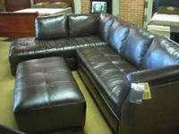 ASHLEY FURNITURE - Leather / Durablend Sectional. This
