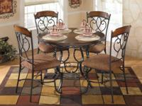 ASHLEY NOLA 5PC DINING SET-BRN this is brand new never