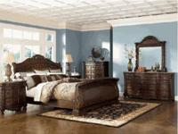 $2495.00 Includes: King complete bed, Dresser, Mirror,
