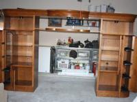 This is a Solid Oak Entertainment Center that can be