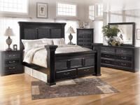 THIS ENTIRE BEDROOM SET...BED,DRESSER, MIRROR, CHEST