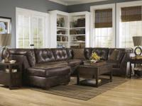 THE FRONTIER CANYON SECTIONAL CAN COME WITH THE CHAISE