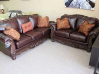 SOFA AND LOVESEAT TOP GRAIN LEATHER 231 NORTH SHORE