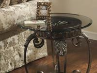 Beautifully ornate metal and clear glass comes together