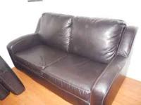 1 HAVE 2 SLEEPER LOVESEATS IN BROWN CHOC LEATHER BY