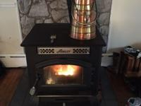Ashley Pellet Stove with very nice pellet bucket. Used