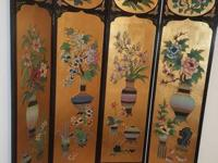 Beautiful Asian Screen painted on both sides Excellent