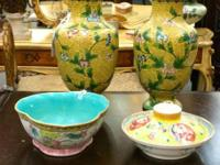 Asian Home Decor. Antique Jamille Rose Bowl. $295.