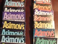 Back issues of Asimov's Science Fiction: Jan, Feb, Mar,