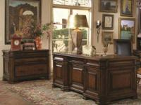 "Beautiful 72"" Executive Desk in Portobello Brown (75""W"
