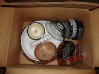 Box of assorted cigarette ashtrays. Pick-up required