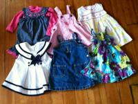 Assorted baby girl dresses, all 18 months. $5 each or