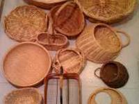 various nice wicker baskets and related items; $25 for