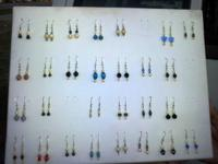 assorted earrings see picture, baleen, ivory, mastadon
