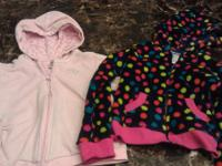 Assorted little girls clothes:  Pink zebra  pant set,