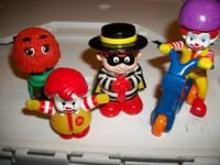McDonalds Plastic Toy Figures  Care Bears  Sesame