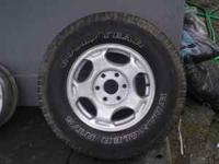 I have several set of rims and tires for sale, first