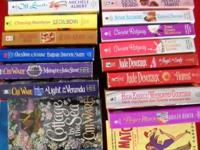 21 assorted romance paperbacks, many happy hours of