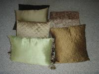 7 pillows I used on my sofas and chairs that are in