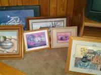 Assorted framed southwestern pictures. Lots to chose