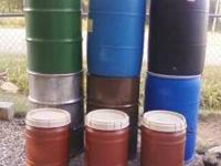 Sealed Drums 55 Gallon plastic Storage Drums These