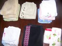 18 Hand Towels 3 wash cloths & 1 finger tip towel $20