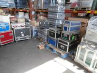 We presently have several pallets of roadway cases with