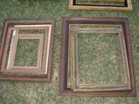 Assortment of more than 50 Vintage Wooden Picture