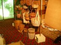 Collection of more than 40 wicker baskets, one for
