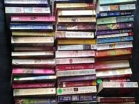 I have an assortment of 66 paperback romance novels for