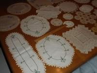 Collection of antique linens, vintage, approx. 50