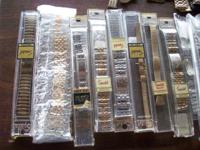 47 various mens and ladies watch bands most still in