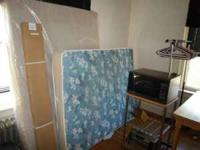 I have several apt Items.. Full size bed box & frame